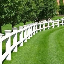 PVC White Fence 2 Rails PVC Ranch Fence Vinyl Ranch Fence