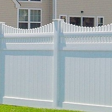 entech White and Gray Color Privacy PVC Vinyl Fence for Garden