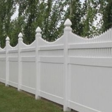 Privace pvc white picket fence/ gate for yard house garden/vinyl privacy fence
