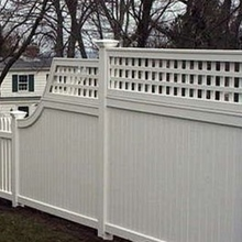 clear pvc privacy vinyl fence/how to choose pvc fence panels