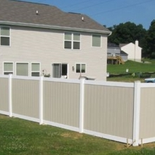 Vinyl decorative fence panels