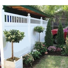 vinyl plastic privacy garden fencing designs