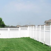 vinyl lattice privacy fence for garden ornament