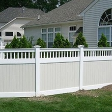 pvc plastic yard private fence/white pvc fence/the advantages of pvc fencing