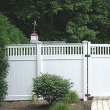 vinyl yard plastic artificial fence/how much of vinyl picket fence
