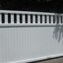 PVC semi privacy fencing