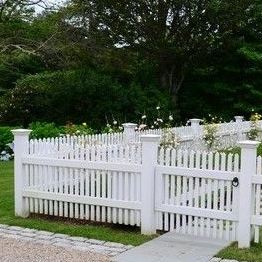 High quality pvc viny picket Fence/It's easy to clean