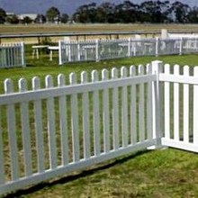 Farm white plastic vinyl PVC picket fence