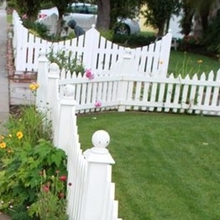 pvc white picket fence/ It is durable