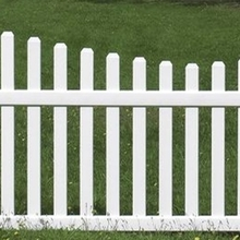 Newest stlye plastic pvc picket fence