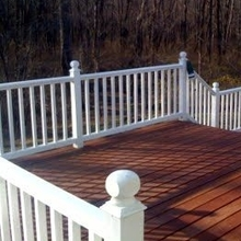PVC plastic white used pool fence