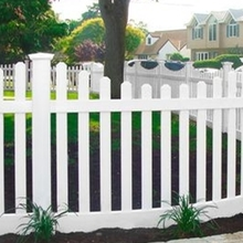High strength white plastic used picket fence