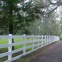 4 Rails Strong Plastic Ranch Pastural Farm PVC Horse Fence