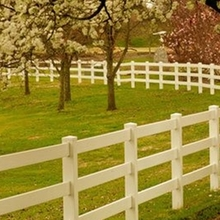 3 Rail PVC horse fence/Made from what material white pvc fence pvc fence gate