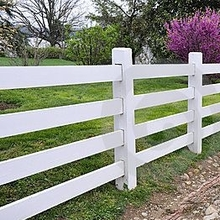 pvc 4 rail horse  fencing/low maintenance pvc vinyl railing pvc fence for sale