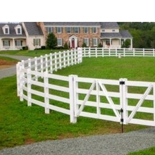 white vinel horse fence/It's note easy to be break. white pvc fence pvc fence colors