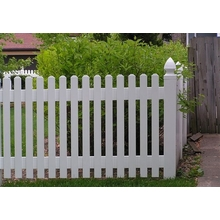 UV protected Temporary Picket Fence  pvc pool fence how to install pvc fencing