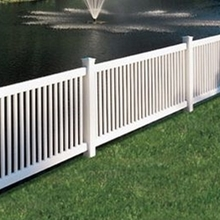 Vinyl pool safety fence PVC Garden fence  pool fence ideas vinyl fencing lowes
