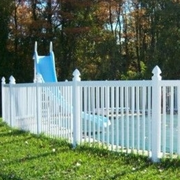 Elegant design pool fencing for swimming white plastic fence