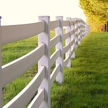 High Quality 4 rail Vinyl Horse  Fence/It's durable and elegant
