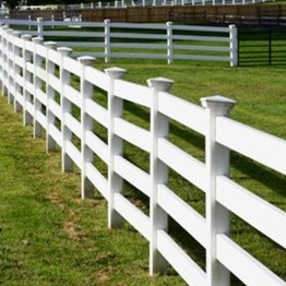 4 rail pvc horse fencing/This is a fence that is not easily yellowed