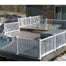 Hot Sale White Vinyl Pool Picket Fence House Fence Garden Fence
