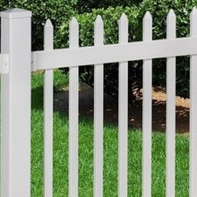 White Decorative Plastic Vinyl PVC Picket Fence/it's beautiful
