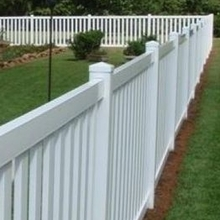 Hot Sale White Vinyl Pool Picket Fence House Fence Garden Fence plastic fencing