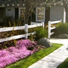A 3 rail ranch vinyl fence /how to install