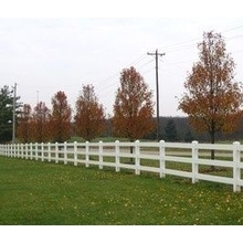 3 rail PVC white color vinyl fence/it's very easy to clean