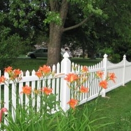 white pvc picket fencing/This is the fence for your yard