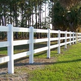 white vinyl horse fence/It's safe for animals