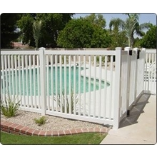 Plastic Swimming Pool Fence in Supermarket Standard Packing /some tips to install pvc fence