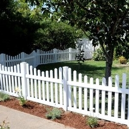 High standard white vinyl picket fence with UL94 and UV test report