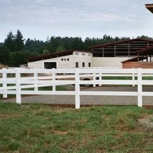 reasonable price PVC ranch fence