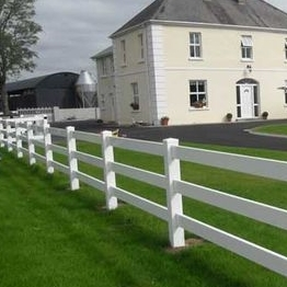 3 rail  Vinyl ranch Fence/easy to install horse fence