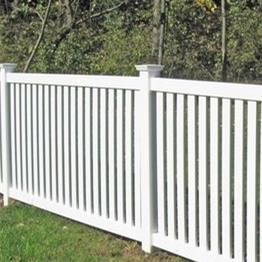 PVC plastic white used pool fence/  powerful and easy install vinyl fencing