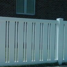high quality vinyl fence/ white plastic fence/ how to make a fence