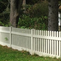 white pvc picket fence/If you choose our fence,you will save a lot of time