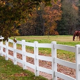 3 rail  vinyl ranch fence /how to clean