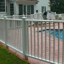 fencing plastic staircase security fencing /white vinyl fence panels/ plastic picket fence /pool fencing