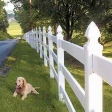 New design pvc horse racing fence/it 's a  3 rail ranch fence