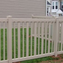 PVC fence rails with decking for home decoration /white vinyl pool fence/vinyl fencing for swimming pools
