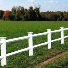 2 rail vinyl horse fence/How can you keep your animals from running on the farm?