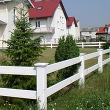 tan or white  vinyl horse fence/A fence for suit for your animals pvc fence pvc fence panels