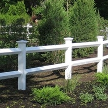 vinyl horse fencing/ 2 rail ranch fence