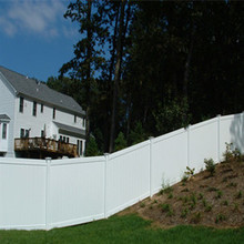 Heavy duty 6' H x 8' W white pvc privacy fence manufacturer for backyard