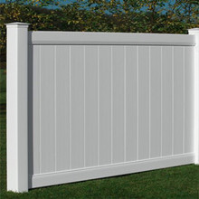 Outdoor eco-friendly solid privacy pvc fence panels with aluminum insert