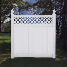 Good neighbor concord pvc vinyl fence lattice privacy fence with gate