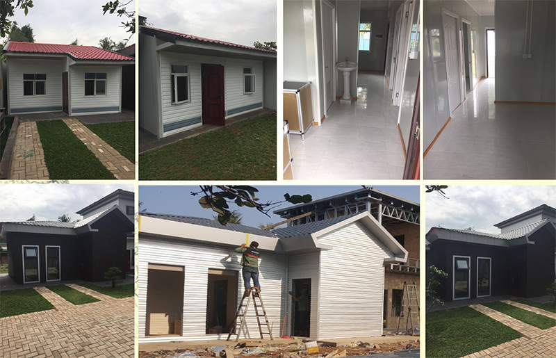 Our light steel villas case in Indonesian